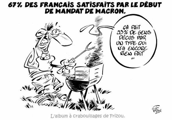 """Spécial """"67 % des Français satisfaits du président Macron..."""" - Image n° 2/2 !..."""