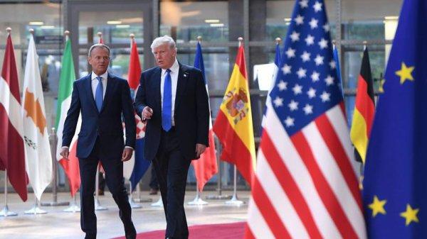 """Spécial """"Trump rencontre les dirigeants de l'Union européenne..."""" - Image n° 1/2 !..."""