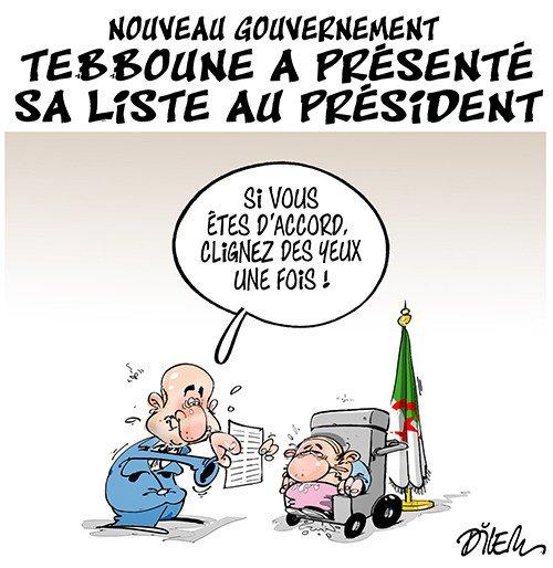 """Spécial """"NOUVEAU GOUVERNEMENT EN ALGÉRIE..."""" - Image n° 2/2 !..."""