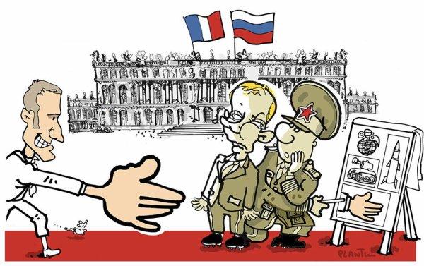 """Spécial """"Macron accueille Poutine avec les fastes de la monarchie républicaine..."""" - Image n° 2/2 !..."""