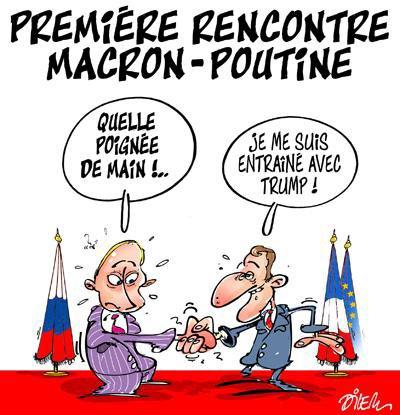 """Spécial """"MACRON POUTINE, LA PREMIÈRE RENCONTRE..."""" - Image n° 2/2 !..."""