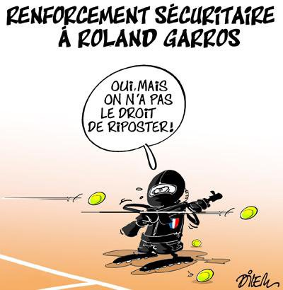 """Spécial """"LA SÉCURITÉ À ROLAND GARROS..."""" - Image n° 2/2 !..."""