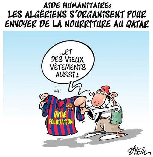 """Spécial """"Aide humanitaire de l'Algérie, pour le Qatar..."""" - Image n° 2/2 !..."""