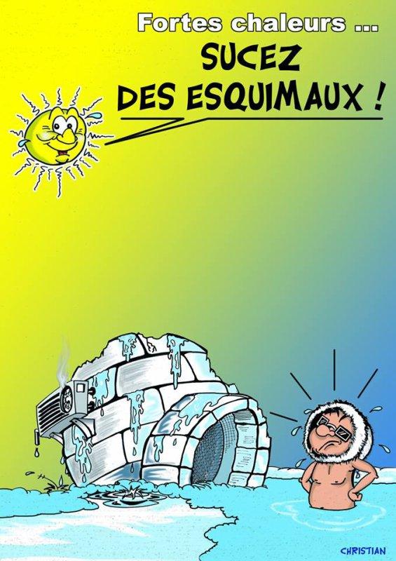 """Spécial """"La canicule, vue par CHRISTIAN dessinateur..."""" - Image n° 09/11 !..."""