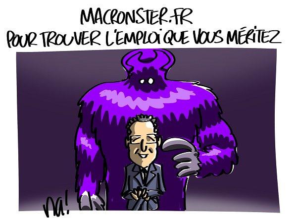 """Spécial """"L'emploi vu par Macron..."""" - Image n° 3/3 !..."""