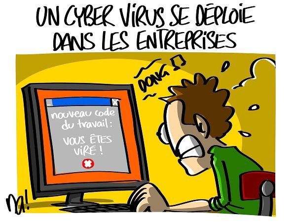 """Spécial """"Un cyber virus se déploie dans les entreprises..."""" - Image n° 2/2 !..."""