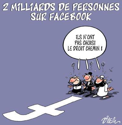 """Spécial """"Facebook passe la barre symbolique des 2 milliards d'utilisateurs..."""" - Image n° 2/2 !..."""