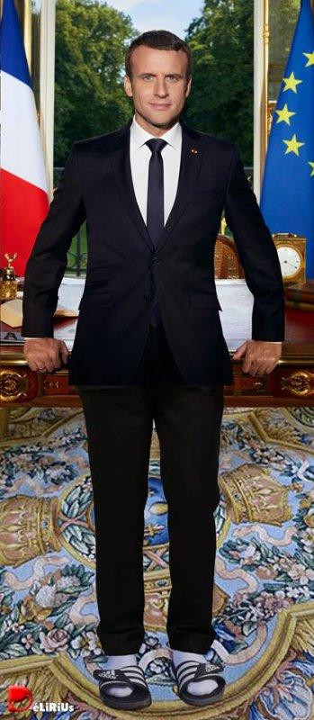 """Spécial """"Le portrait d'Emmanuel Macron avant et après recadrage..."""" - Image n° 2/2 !..."""