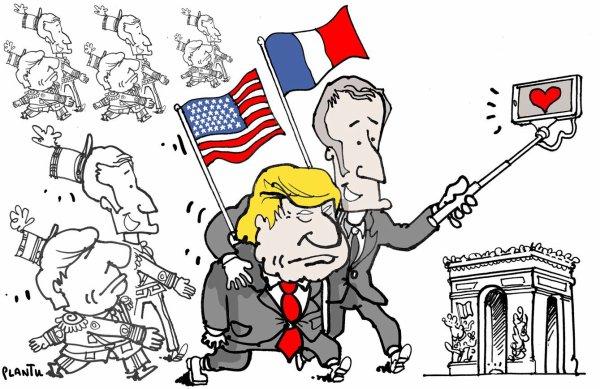 """Spécial """"Donald Trump a accepté l'invitation d'Emmanuel Macron pour le 14 juillet..."""" - Image n° 2/2 !..."""