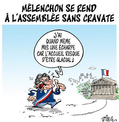 """Spécial """"MÉLENCHON SANS CRAVATE..."""" - Image n° 2/2 !..."""