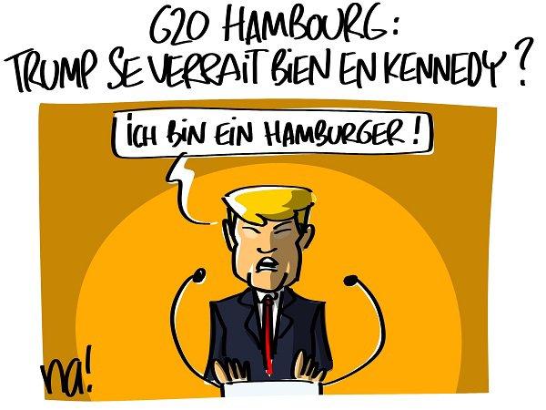 """Spécial """"Trump au G20, à Hambourg, se prend pour Kennedy..."""" - Image n° 3/3 !..."""