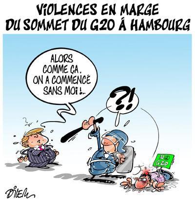 """Spécial """"Violences en marge du G20 à Hambourg..."""" - Image n° 2/2 !..."""