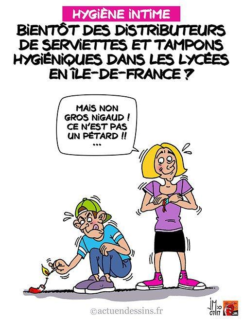 """Spécial """"Des distributeurs de tampons hygiéniques dans les lycées ?..."""" - Image n° 2/2 !..."""