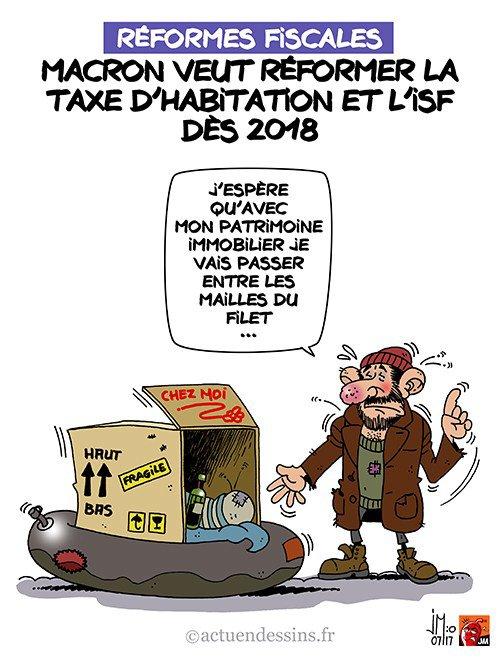 """Spécial """"Taxe d'habitation et ISF réformés dès 2018 ?..."""" - Image n° 2/2 !..."""