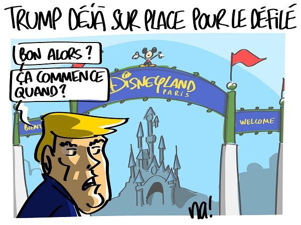 """Spécial """"Trump à la parade du 14 juillet..."""" - Image n° 2/2 !..."""