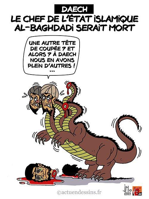 """Spécial """"Abou Bakr al-Baghdadi, le chef de l'Etat islamique est mort selon l'Observatoire syrien des droits de l'homme..."""" - Image n° 2/2 !..."""