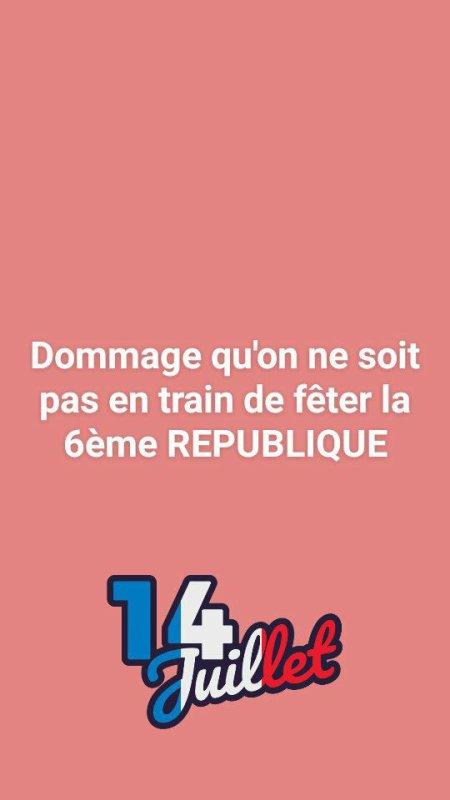 """Spécial """"Si la 6 ème République m'était contée..."""" - Image n° 2/2 !..."""