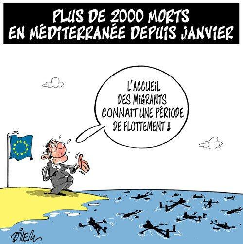 """Spécial """"Migrants : près de 2000 morts en Méditerranée depuis début 2015..."""" - Image n° 2/2 !..."""