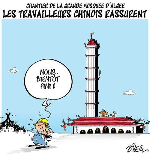 """Spécial """"Chantier de la grande mosquée, à Alger..."""" - Image n° 2/2 !..."""