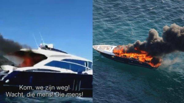 Des Belges sautent d'un yacht en flammes au large de Saint-Tropez !...
