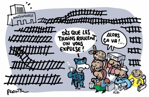 """Spécial """"SNCF : GIGANTESQUE PANNE À LA GARE..."""" - Image n° 2/2 !..."""
