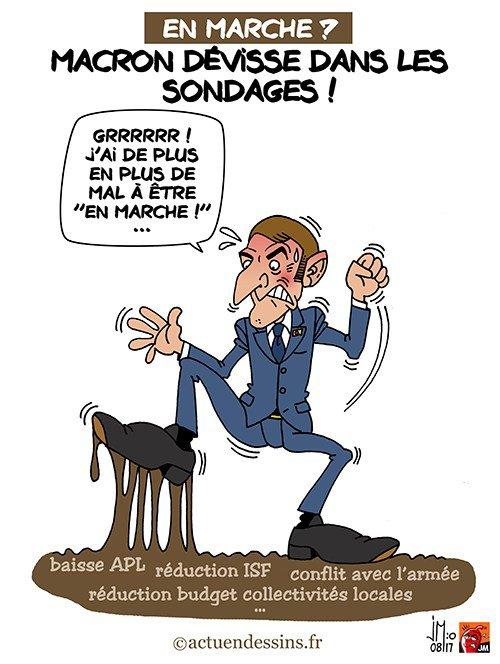 """Spécial """"Macron dévisse dans les sondages..."""" - Image n° 2/2 !..."""
