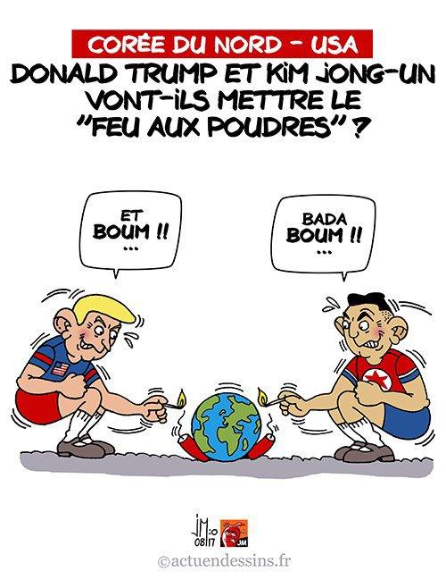 """Spécial """"Trump/Jong-Un : le feu aux poudres ?..."""" - Image n° 2/2 !..."""