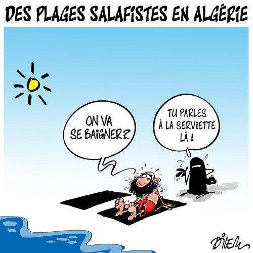 """Spécial """"Des plages exclusivement Islamistes (salafistes) en Algérie..."""" - Image n° 2/2 !..."""