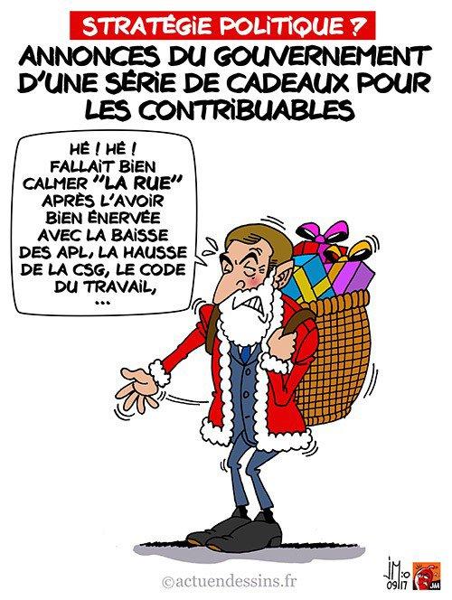 """Spécial """"Une série de « cadeaux » promis par le gouvernement Macron..."""" - Image n° 2/2 !..."""