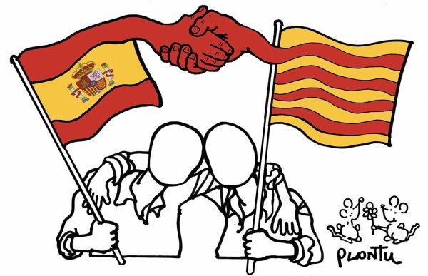 """Spécial """"Catalogne : la démonstration de force des anti-indépendantistes à Barcelone..."""" - Image n° 2/2 !..."""