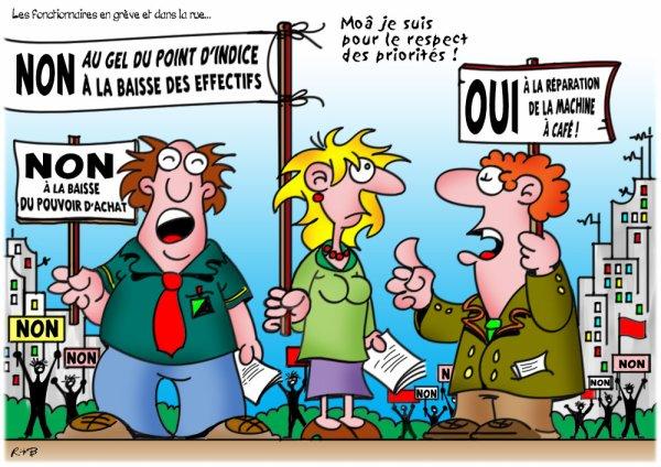 """Spécial """"Les petits noirs d'Erby Kezako - R*B et les fonctionnaires en grève..."""" - Image n° 2/2 !..."""