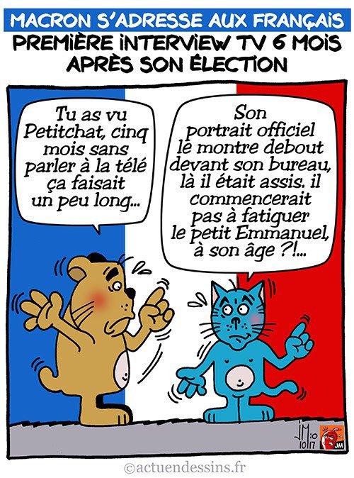 """Spécial """"Première interview TV pour Macron..."""" - Image n° 2/2 !..."""