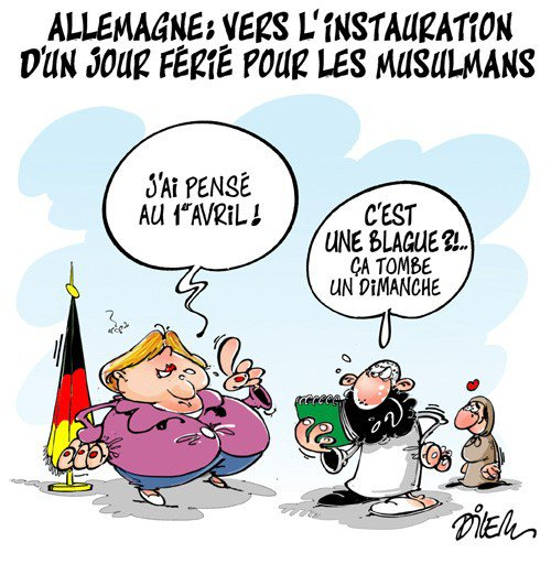 """Spécial """"Un jour férié musulman, le sujet qui agite l'Allemagne..."""" - Image n° 2/2 !..."""