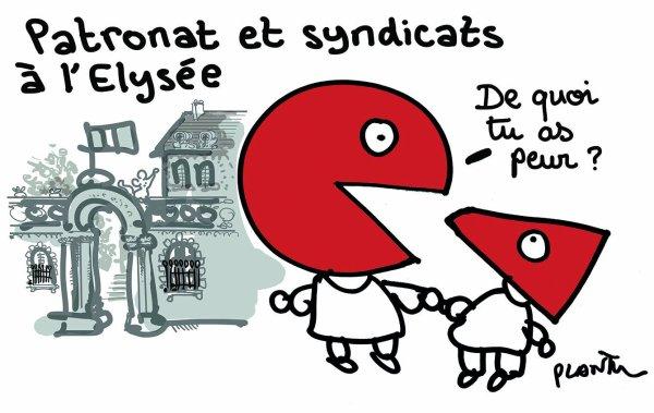 """Spécial """"Syndicats et patronat à l'Élysée pour parler formation et assurance-chômage..."""" - Image n° 2/2 !..."""