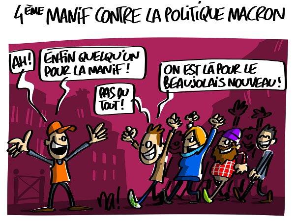"""Spécial """"4ème manif contre la politique Macron..."""" - Image n° 2/2 !..."""