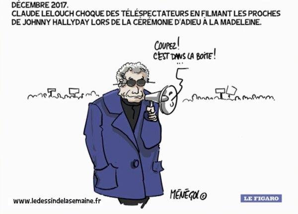 """Spécial """"Claude Lelouch choque les téléspectateurs en sortant son téléphone..."""" - Image n° 2/2 !..."""