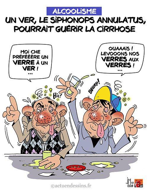 """Spécial """"Alcoolisme : la cirrhose guérie par un ver (verre) ?..."""" - Image n° 3/3 !..."""