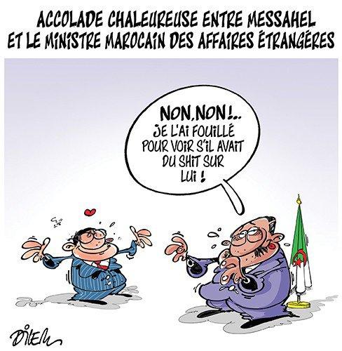 """Spécial """"Algérie : La chaleureuse accolade entre Nasser Bourita et Abdelkader Messahel..."""" - Image n° 2/2 !..."""