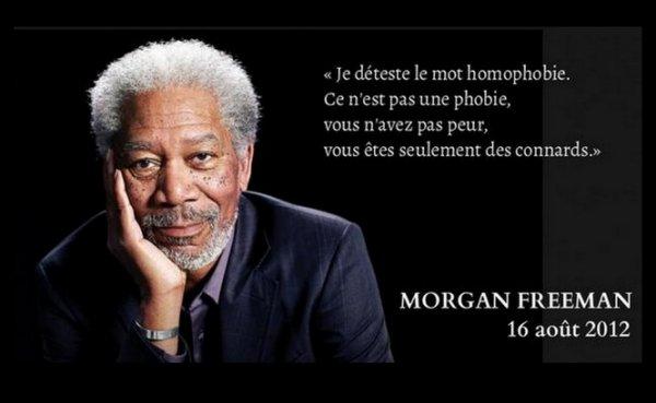 """Spécial """"Morgan Freeman, au sujet de l'homophobie..."""" - Image n° 2/3 !..."""