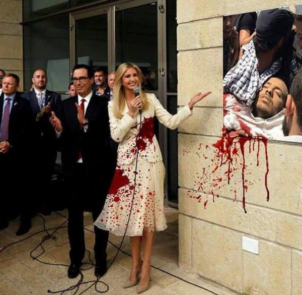 """Spécial """"La fille Trump inaugurant la nouvelle ambassade US, à Jérusalem..."""" - Image n° 2/2 !..."""
