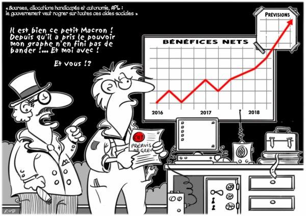 """Spécial """"Macron rogne sur toutes les aides sociales..."""" - Image n° 2/2 !..."""