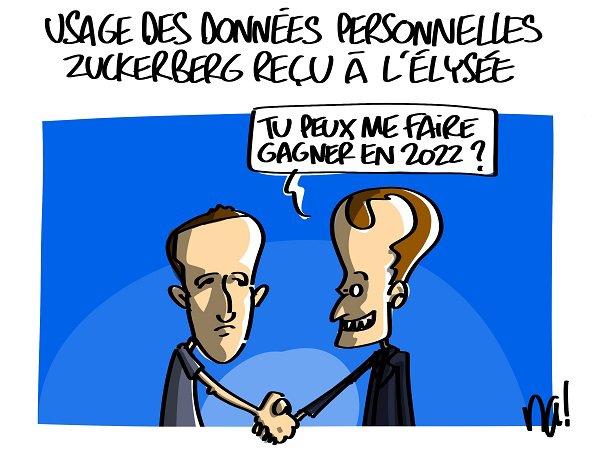 "Spécial ""Marck Zuckerberg reçu à l'Elysée..."" - Image n° 2/2 !..."