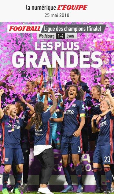 """Spécial """"Football : l'Olympique lyonnais remporte sa troisième Ligue des champions féminine d'affilée..."""" - Image n° 2/4 !..."""