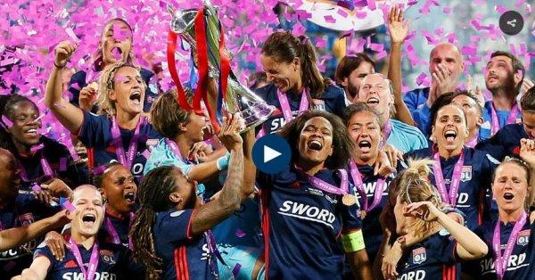"""Spécial """"Football : l'Olympique lyonnais remporte sa troisième Ligue des champions féminine d'affilée..."""" - Image n° 1/4 !..."""