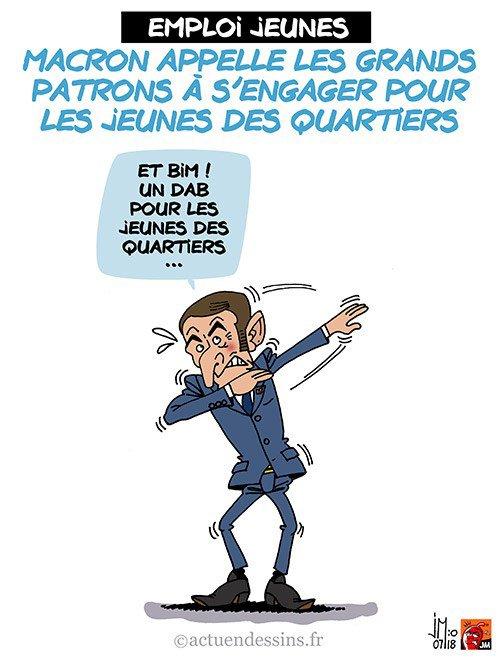 """Spécial """"Un dab de Macron pour les jeunes des quartiers..."""" - Image n° 3/3 !..."""