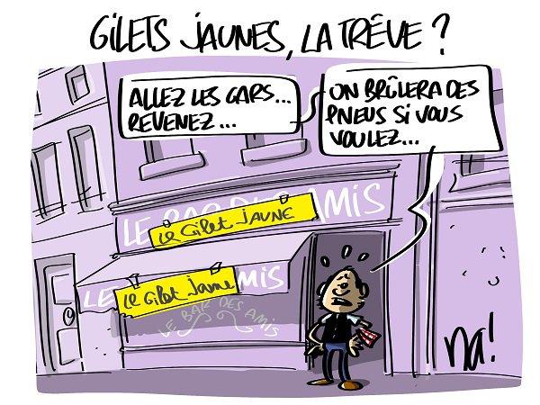 """Spécial """"Gilets Jaunes, la trêve ?..."""" - Image n° 2/2 !..."""