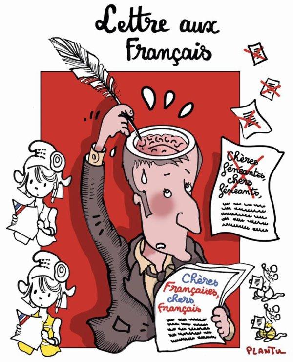 """Spécial """"La lettre aux Français, vue par Plantu..."""" - Image n° 3/3 !..."""
