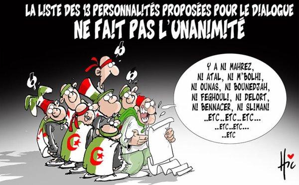 """Spécial """"Algérie : Liste des 13 personnalités proposées pour le dialogue..."""" - Image n° 2/2 !..."""