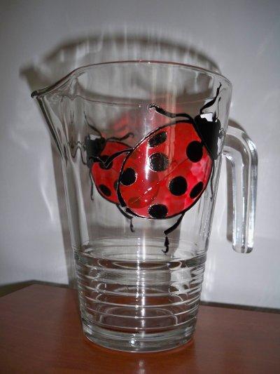 service de verres coccinelles