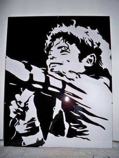 en noir et blanc 40X50 cm